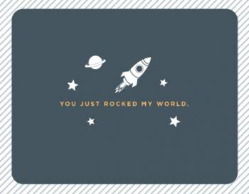 Rock My World Thank You Cards
