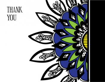 Bright Flower Thank You Cards