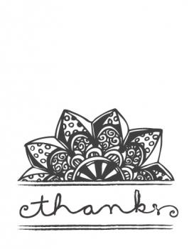 Casual Flower Thank You Cards
