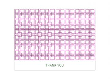 Geometric Thank You Thank You Cards