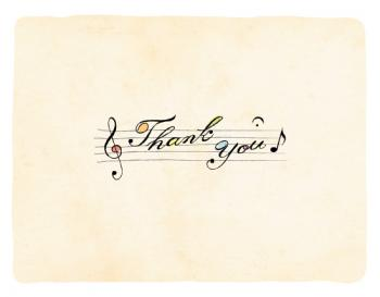 Sing a thank you song Thank You Cards