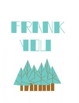 Thanks From Him-Frank You Thank You Cards
