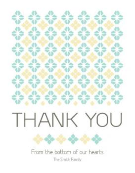 Embroidery Thank You Cards