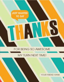You are awesome Thank You Cards