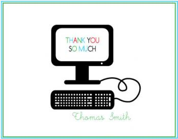 Screen Saver Thank You Cards