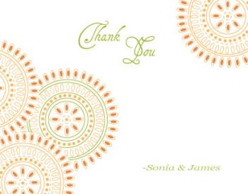 Hawaiian Circles Thank You Cards