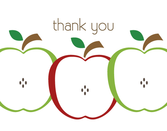 thank you cards - She'll be Apples by Kampai Designs