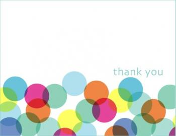 Party Bubbles Thank You Cards