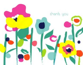 Garden Party Thank You Thank You Cards