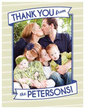 Preppy Stripes Thank You Cards