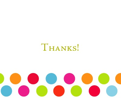 thank you cards - Gumballs by Brooke Rasmussen