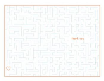 Appreciation Maze Thank You Cards
