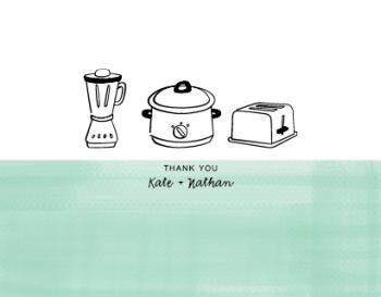 A blender, a crockpot, and a toaster
