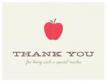 A Special Teacher Thank You Cards