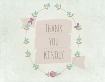 thank you kindly Thank You Cards