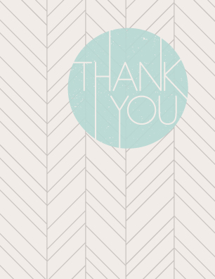 thank you cards - The Bright Side by Amber Barkley