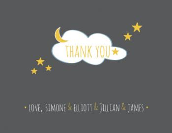 Starry Thanks Thank You Cards
