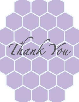 Lilac Honeycomb Thank You Cards