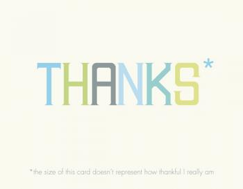 Asterisk Thank You Cards