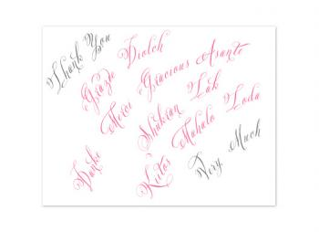Calligraphed Thank You