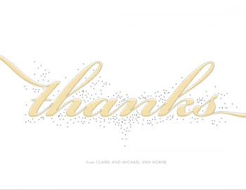 Glittering Thank You Cards