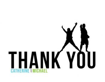 Jumping Silhouette Thank You Cards