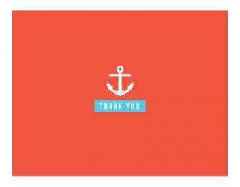 Anchor Thanks Thank You Cards