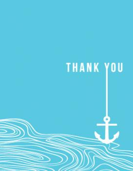 Drop Your Anchor Thank You Cards