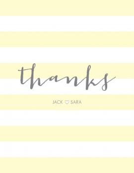 Classic Stripes Thank You Cards