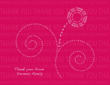 Typographic FLower Thank You Cards