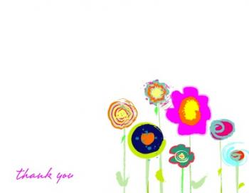 Posies Thank You Cards