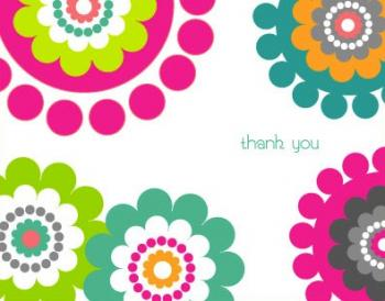 Bohemian Dots Thank You Cards