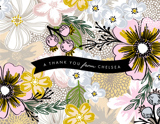 thank you cards - Flower Sketch by Alethea and Ruth