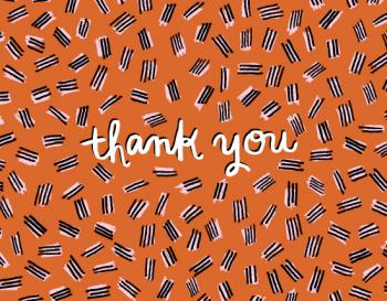 Hatch-mark Pattern Thank You Cards