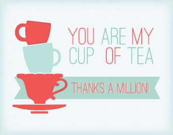 A Cup Of Thanks Thank You Cards
