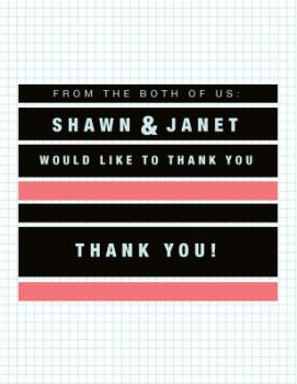 Graph Paper Thank You Thank You Cards