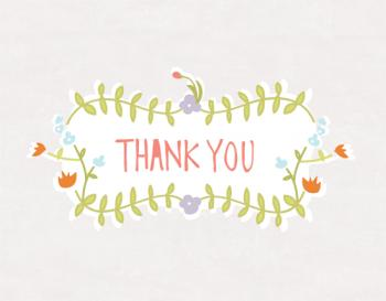 Floral Bright Thank You Cards