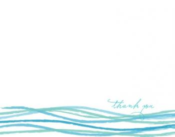 Pool Waves Thank You Cards