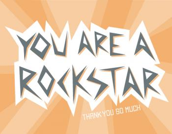 Rockstar Thank You Cards