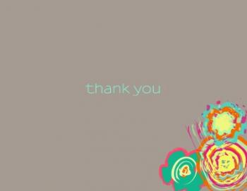 Flower Paint Thank You Cards