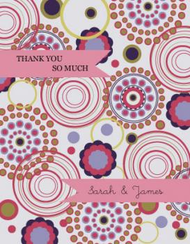 Fun and Frolic circles Thank You Cards