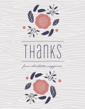 Faux Bois Florals Thank You Cards