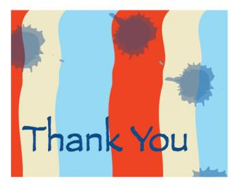 panited Thank You Thank You Cards