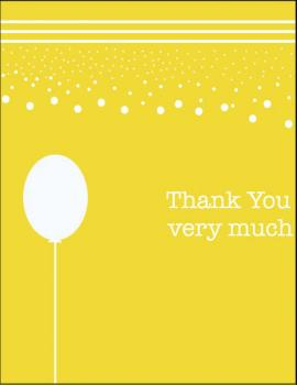 Sunshine Party Thank You Cards