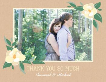 Creamy Magnolias Thank You Cards