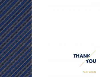 45 Angle Thank You Cards