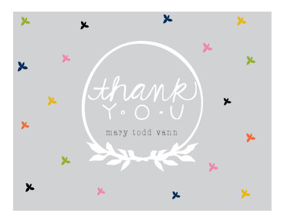 thank you cards - 4 leaf pattern by Abby Munn