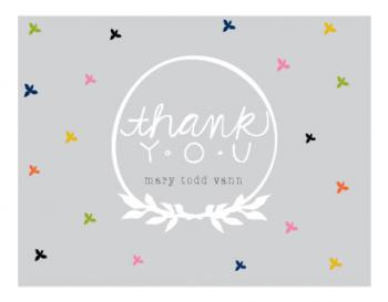 4 leaf pattern Thank You Cards