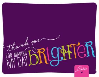 Brightening Up Thank You Cards