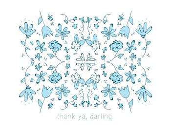 A Flowery Delight Thank You Cards